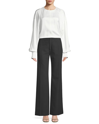 Knox Crepe Satin Tieback Blouse and Matching Items