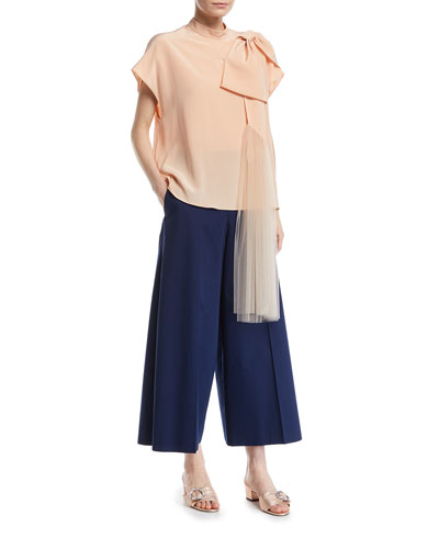 Wide-Leg Cotton Cropped Pants  and Matching Items