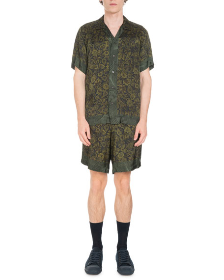 Floral-Print Short-Sleeve Shirt