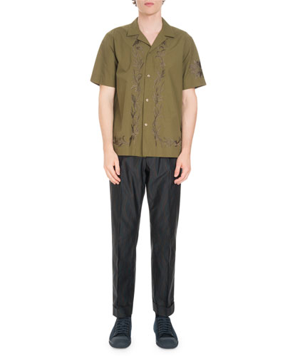 Carlton Embroidered-Trim Short-Sleeve Shirt and Matching Items