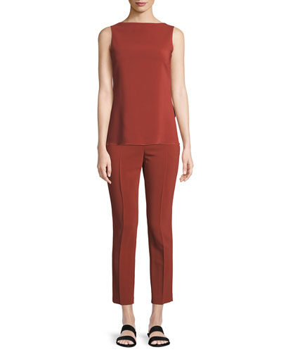 Low-Back Draped Stretch Cady Top and Matching Items
