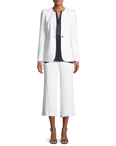 Eloisa Cropped Straight-Leg Pants and Matching Items