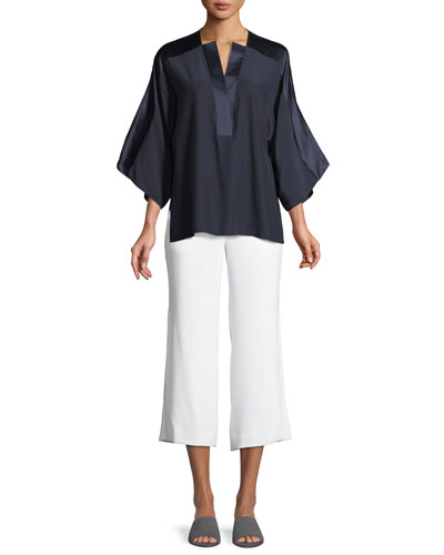 Nolia Silk-Trim Blouse and Matching Items