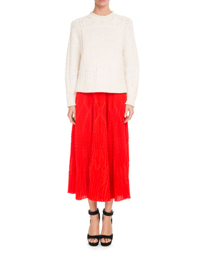 Pleated Lace Midi Skirt and Matching Items