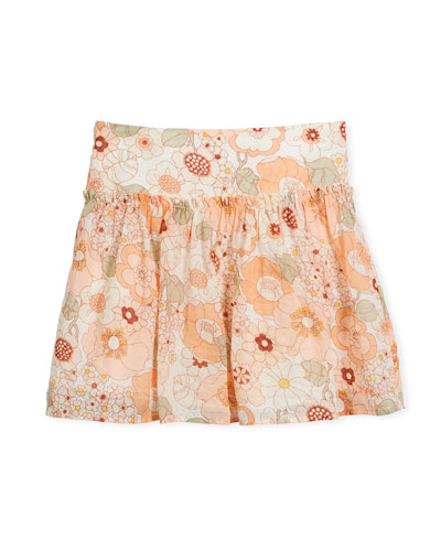 Pleated Floral Skirt, Size 4-5  and Matching Items