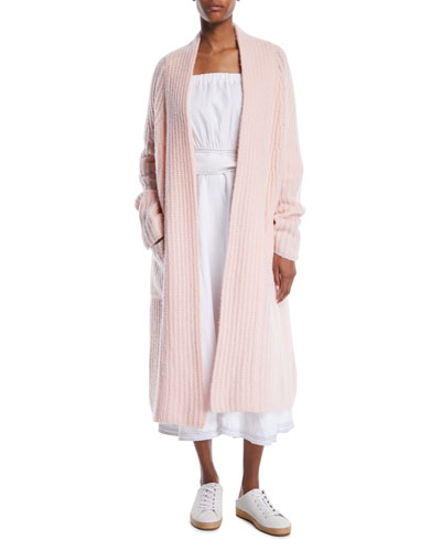 Open-Front Cashmere Oversized Knit Cardigan and Matching Items