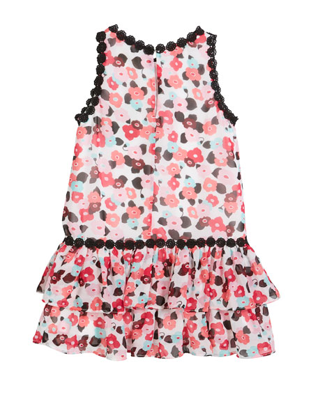 blooming floral crochet-trim dress, size 2-6x