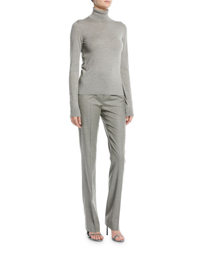Long-Sleeve Cashmere Turtleneck Sweater and Matching Items