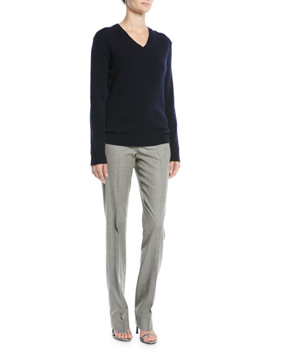 V-Neck Long-Sleeve Cashmere Sweater and Matching Items