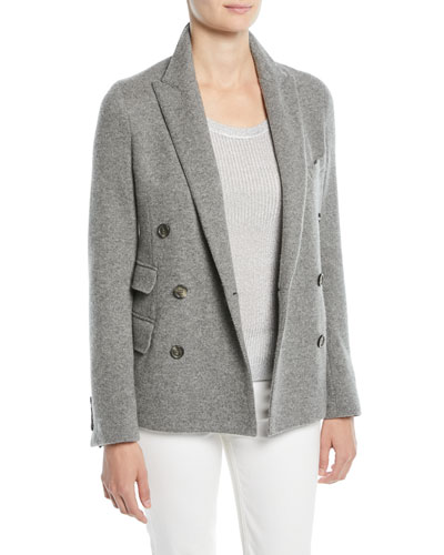 Camden Double-Breasted Cashmere Jacket and Matching Items