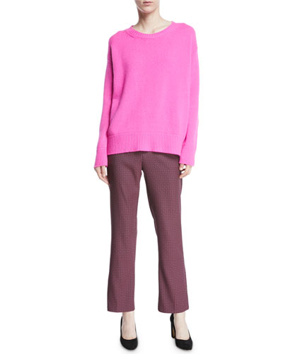 Crewneck Long-Sleeve Wool-Cashmere Sweater and Matching Items