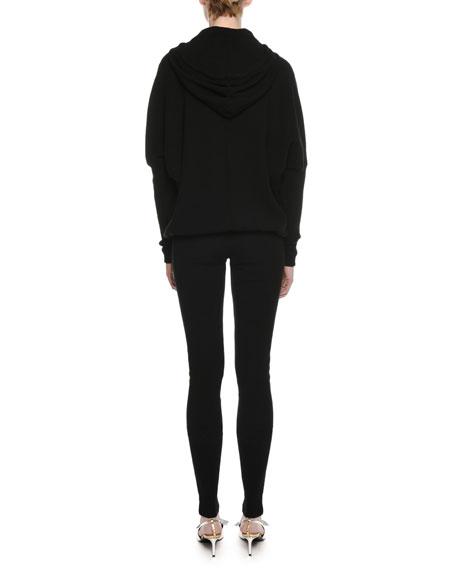 Cashmere Kimono-Sleeve Hooded Sweatshirt