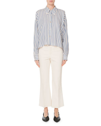 Long-Sleeve Striped Cotton Shirt and Matching Items