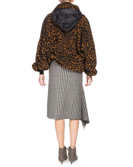 Zip-Front Leo-Print Fleece Jacket