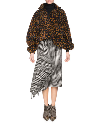Zip-Front Leo-Print Fleece Jacket and Matching Items