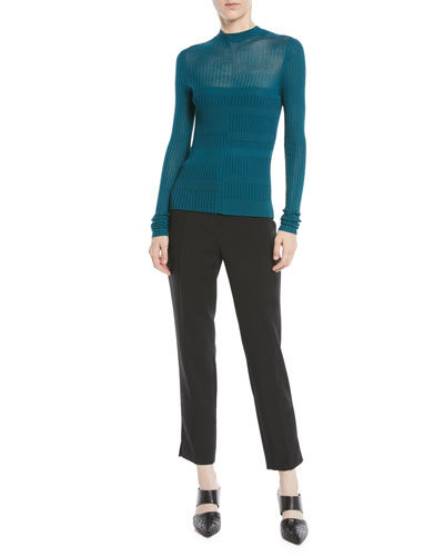 Rib-Knit Mock-Neck Top  and Matching Items