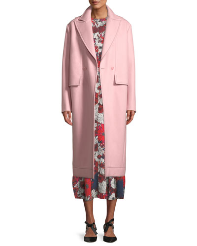 Peak-Lapels Double-Breasted Oversized Wool Coat and Matching Items