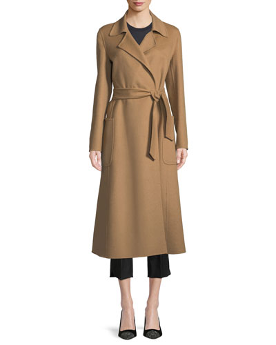 Viadana Notched-Collar Belted Mid-Length Wool Coat and Matching Items