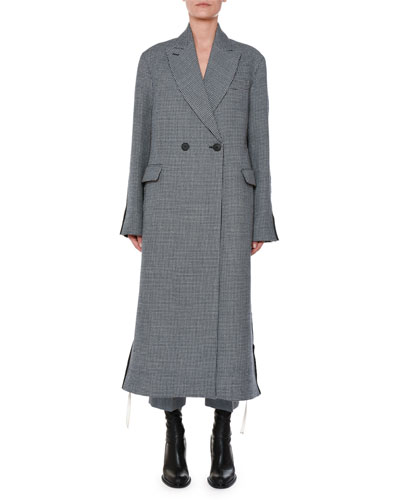 Racer-Side Check-Front Oversized Coat and Matching Items