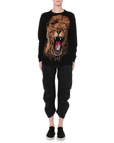 Oversize Lion Intarsia Sweater and Matching Items