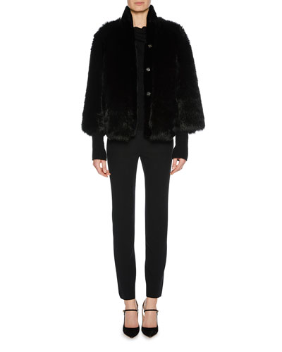 Fully Reversible Shearling Leather Coat and Matching Items