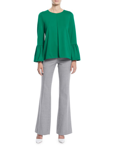 Weston Crewneck Bell-Sleeve Top and Matching Items