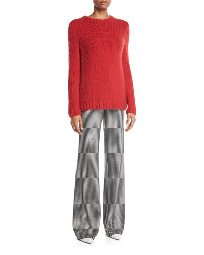 Luiz Crewneck Long-Sleeve Cashmere Cable Knit Sweater and Matching Items
