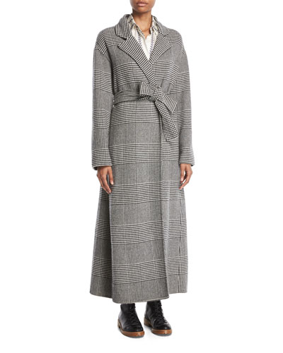 Souza Open-Front Houndstooth Cashmere Coat and Matching Items