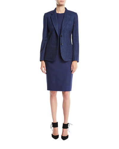 Two-Button Textured Wool-Blend Jacket  and Matching Items