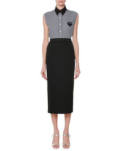 Sleeveless Button-Front Gingham Top and Matching Items