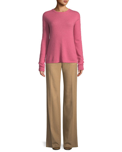 Crewneck Long-Sleeve Cashmere Sweater and Matching Items