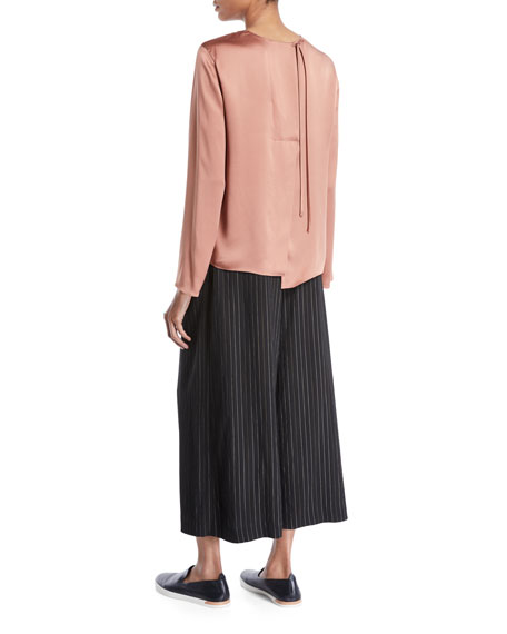 d4278fe03a43 Vince Tie-Back Silk Long-Sleeve Blouse and Matching Items