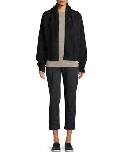 Oversized Shawl-Collar Cardigan and Matching Items