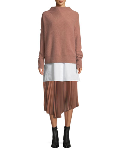 Funnel-Neck Pullover and Matching Items