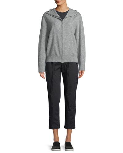 Hooded Zip-Front Cashmere Sweater and Matching Items