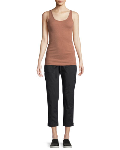 Ribbed Scoop-Neck Tank and Matching Items