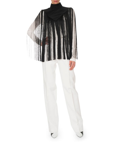 Mock-Neck Fringe Top and Matching Items