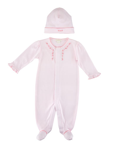 Rosebud Ribbons Baby Hat and Matching Items