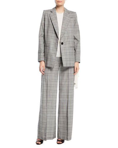 Italian Check Boyfriend Suiting Jacket and Matching Items