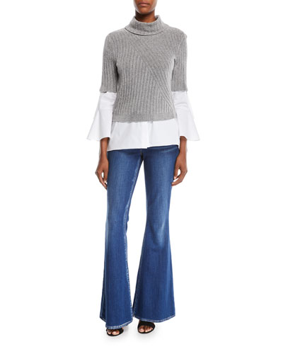 Fitz Short-Sleeve Turtleneck Sweater and Matching Items