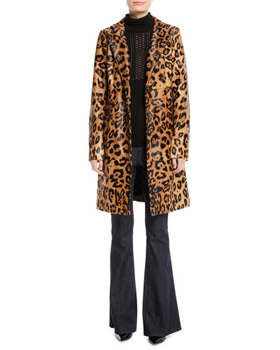 Angelina Leopard-Print Calf Hair Coat and Matching Items