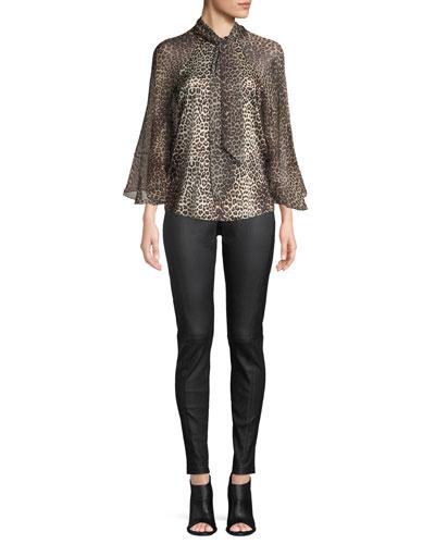 Matilda Leopard-Print Silk Blouse and Matching Items