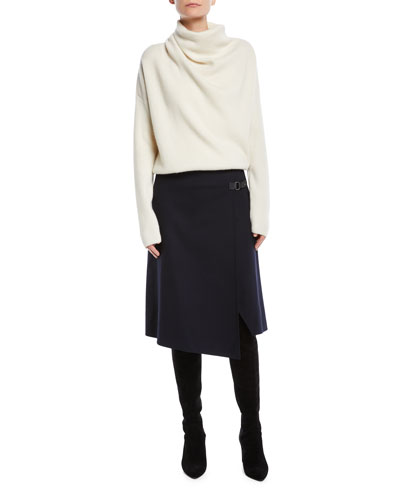 Reswick Cowl-Neck Long-Sleeve Cashmere Sweater and Matching Items