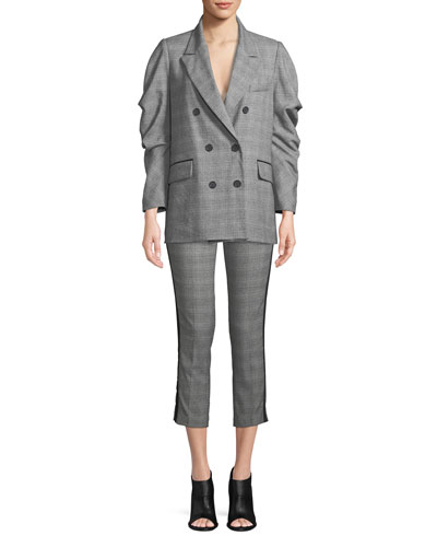 Kenadia Side-Stripe Cropped Straight-Leg Pants and Matching Items