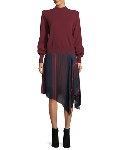 Atilla Bishop-Sleeve Wool-Cashmere Sweater and Matching Items