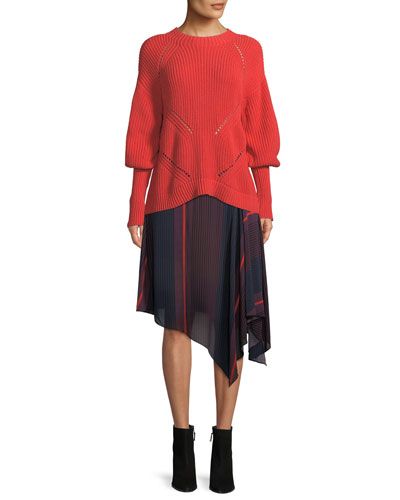 Landyn Long-Sleeve Eyelet Sweater and Matching Items