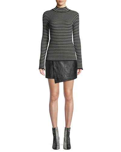 Gestina Striped Mock-Neck Sweater and Matching Items
