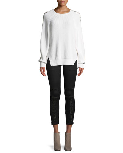 Daxton Studded Crewneck Sweater and Matching Items