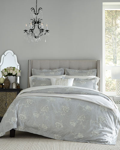 Floral Bloom Jacquard Full/Queen Duvet Cover  and Matching Items