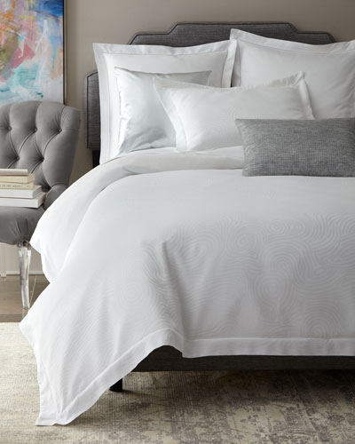 King Winter White Scroll Duvet Cover and Matching Items